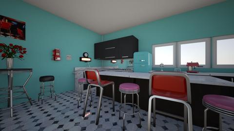 Retro Kitchen  - Kitchen - by AlexiiisNiicole