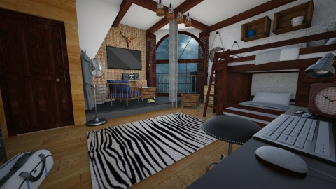 used - Rustic - Kids room - by donella