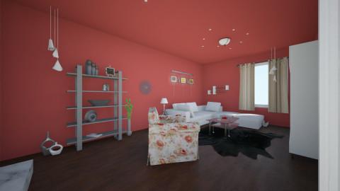 whitre  - Living room - by FrosinaStojkovska