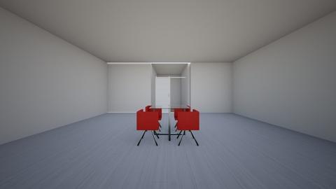 Modern Red Dorm - Modern - Bedroom - by AestheticQueen