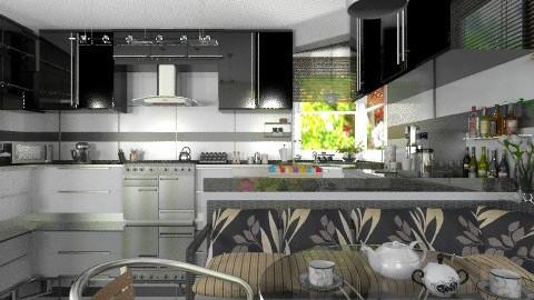 Black and White2 - Modern - Kitchen - by Bibiche
