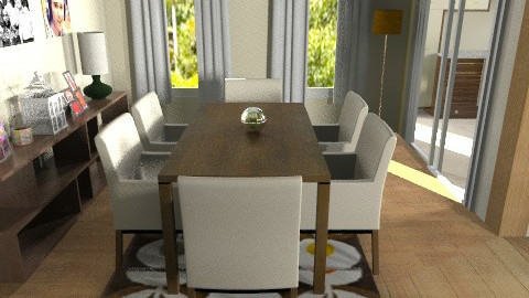 retro dining and living 2 - Retro - by teen bedroom