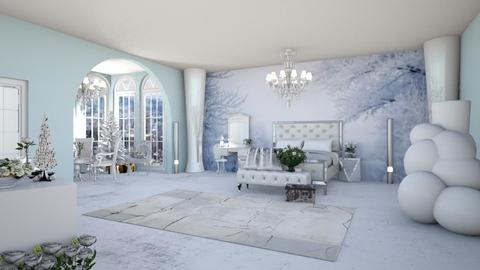 Winter bedroom - Bedroom - by Tonovia