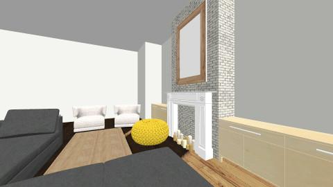 city apt - Living room - by naaaaaaaaaaatt