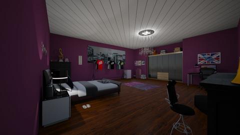 mine is purple - Rustic - Bedroom - by AngeliqueA