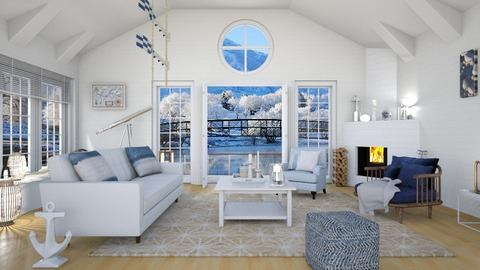 Boathouse - Living room - by ArtHousedeco