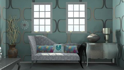 silver  influence - Living room - by xpigeonx