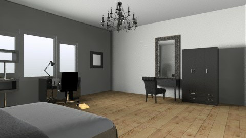 Modern Black Bedroom - Modern - Bedroom - by barfi2012