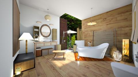 bamboo interior - Bathroom - by rungsimas