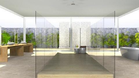 Indoor/Outdoor_Bathroom - Minimal - Bathroom - by giulygi