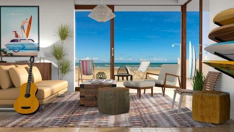Surf Culture Living Room - Living room - by GraceKathryn