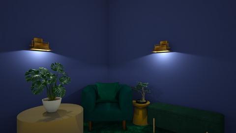 green  - Living room - by belle alderton
