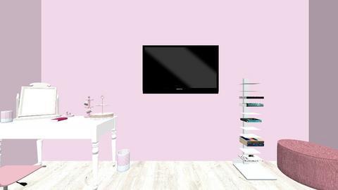 teenage pink room - Glamour - Bedroom - by ANULI