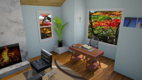 beach themed office - Rustic - Office - by artmann26