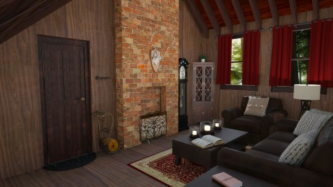 Country Style Living Room - Country - Living room - by hollyhough549