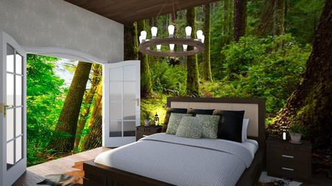 welcome to the wild - Rustic - Bedroom - by chloe_mccarty