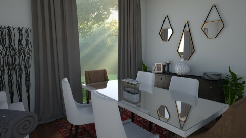 cozy dining room - Dining room - by designerm