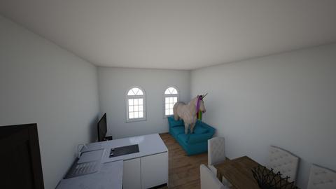 salon z koniem - Living room - by explorerxxx