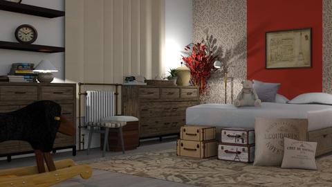Red_Ficus - Bedroom - by ZuzanaDesign