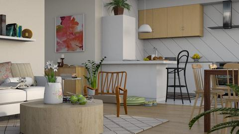 Flowered Apartment - Modern - Living room - by millerfam
