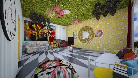 alice in wonderland - Eclectic - Bedroom - by somei