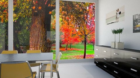 orangeworld2 - Dining room - by saraa_kocsis