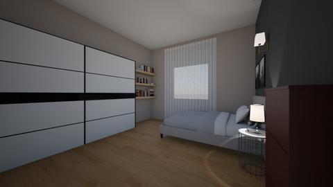 my room - Modern - Bedroom - by AfroditeGoldie