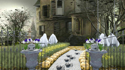 halloween party - Garden - by ilpiccio