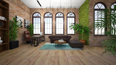 Urban Jungle Loft Office - Office - by agnesdualko