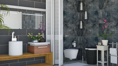 Fleur_Tiles_ Bathroom - Modern - Bathroom - by ayu DR