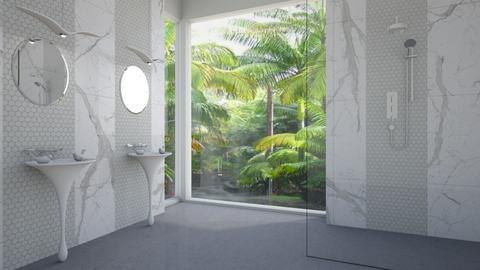 bird bath - Bathroom - by rickglassinteriors