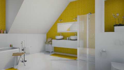 yellow bath - Bathroom - by MandyB84