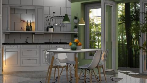 white and green - Kitchen - by sirtsu