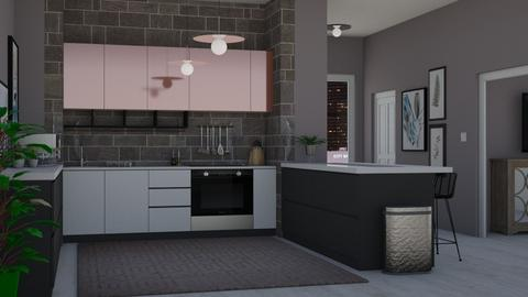 Dark Kitchen - Modern - Kitchen - by Kendal Peterson