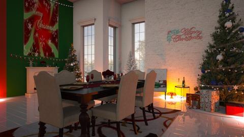 Christmas Dinner - Modern - Dining room - by fashiondesigner7