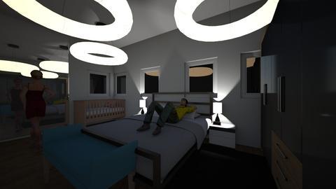 nick and fede - Bedroom - by fernanda urrea