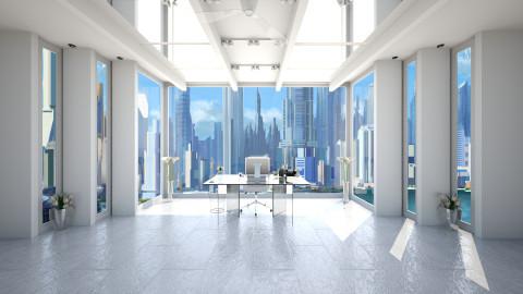 Large Plain Office - Minimal - Office - by Sophia Cooper