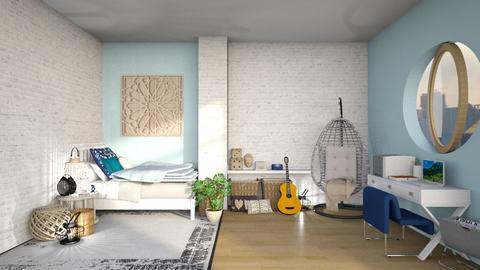Attic Bedroom - Retro - Bedroom - by annatyler08