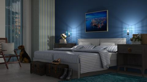 Blue_Ocean - Bedroom - by ZuzanaDesign