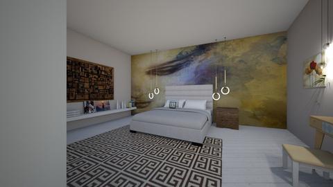mansarda bedroom - by danaumbrarescu