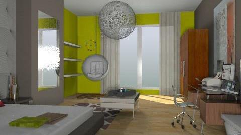 Green Bedroom remake - Eclectic - Bedroom - by idesine