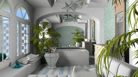 Poolside - Eclectic - Bathroom - by PomBom