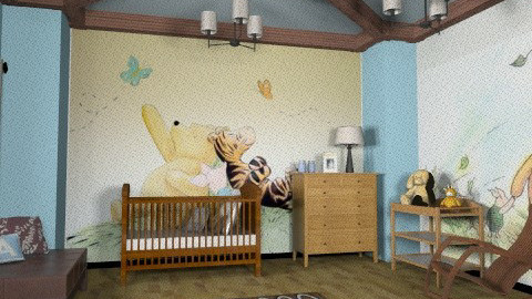 Chocolate and Blue - Modern - Kids room - by chloedaniella