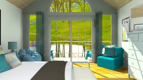 Turquoise  - Country - Bedroom - by pachecosilv