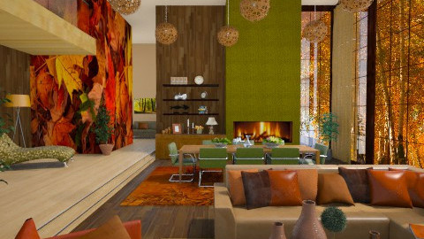 autumn home  - Eclectic - Living room - by Senia N