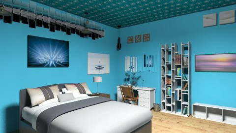 blue entrance - Modern - Bedroom - by aris30guillermo