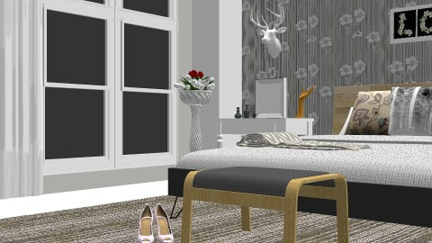 grey bedroom  - Modern - Living room - by vickyreed24