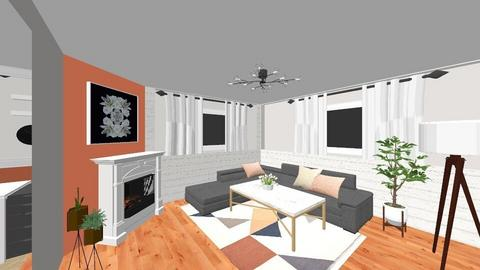 Basement - Living room - by mikaylamehle