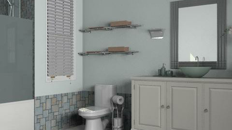 Blue Tile Bathroom - Classic - Bathroom - by reedj0218