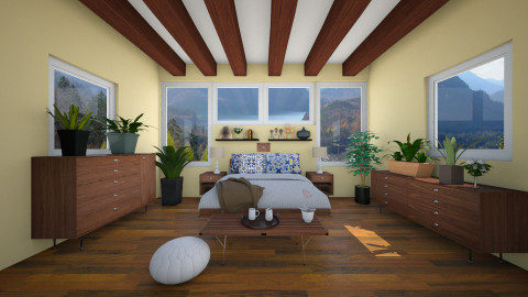 Mellow Yellow - Bedroom - by lucymorgan
